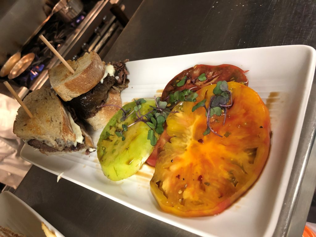 Dip with heirloom tomatoes